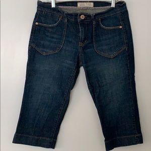 Old Navy Mid Rise Denim Knee Length Pants